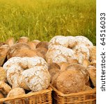 Bread Basket With Cereal In Th...