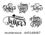 vector happy fathers day... | Shutterstock .eps vector #645168487