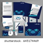 blue trendy corporate identity