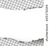 torn paper with ripped edges on ... | Shutterstock .eps vector #645176344