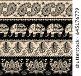 tribal vector seamless pattern...   Shutterstock .eps vector #645176779