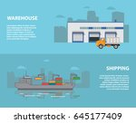 the transport ship and... | Shutterstock .eps vector #645177409