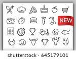 set of groceries icons. vector... | Shutterstock .eps vector #645179101