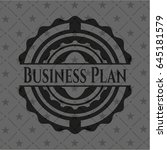 business plan realistic black... | Shutterstock .eps vector #645181579