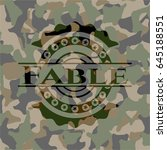 fable on camo texture | Shutterstock .eps vector #645188551