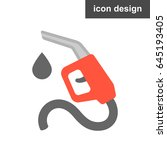 vector icon gas station | Shutterstock .eps vector #645193405
