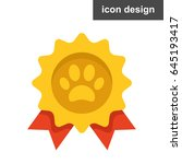 vector icon best choice cat paw
