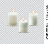 white candles isolated. set  ...   Shutterstock .eps vector #645196231
