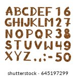 wood tree texture font.... | Shutterstock .eps vector #645197299