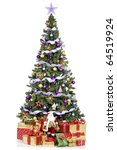 christmas tree and gifts. over... | Shutterstock . vector #64519924