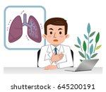 doctor explaining the lungs | Shutterstock .eps vector #645200191