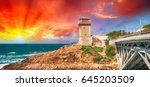beautiful seascape of calafuria ...   Shutterstock . vector #645203509