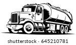 sewerage truck illustration | Shutterstock .eps vector #645210781