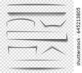 shadow vector elements for... | Shutterstock .eps vector #645213805