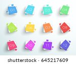 number bullet point abstract... | Shutterstock .eps vector #645217609