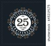 25 years anniversary design... | Shutterstock .eps vector #645219175
