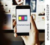 movie cinema film digital media ... | Shutterstock . vector #645222109