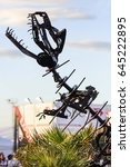 dinosaur built with metal parts | Shutterstock . vector #645222895