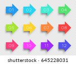 number bullet point colorful 3d ... | Shutterstock .eps vector #645228031