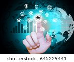 security of data against cyber... | Shutterstock . vector #645229441