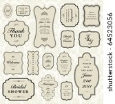 vector ornate frame set | Shutterstock .eps vector #64523056