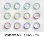 number bullet point colorful 3d ... | Shutterstock .eps vector #645232741