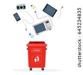 broken phone  tablet  camera ... | Shutterstock .eps vector #645234835