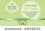 template gift voucher with a... | Shutterstock .eps vector #645236215