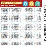business icon set design clean...   Shutterstock .eps vector #645236644