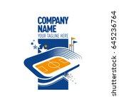 logo with stadium .eps10 | Shutterstock .eps vector #645236764