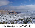snow in the desert   red rock... | Shutterstock . vector #645240541