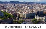 aerial views of barcelona city  ... | Shutterstock . vector #645242725