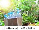 plastic bottles for reuse... | Shutterstock . vector #645242839