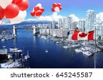 canada day july 1. canadian... | Shutterstock . vector #645245587