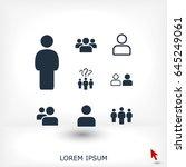 people icon  stock vector... | Shutterstock .eps vector #645249061