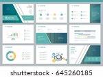 business presentation design... | Shutterstock .eps vector #645260185