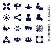 social icons set. set of 16... | Shutterstock .eps vector #645261514