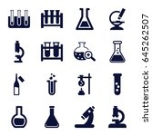 lab icons set. set of 16 lab... | Shutterstock .eps vector #645262507