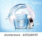 hydration cosmetic cream ad ... | Shutterstock .eps vector #645268459
