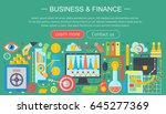 business and finance flat icons ... | Shutterstock . vector #645277369