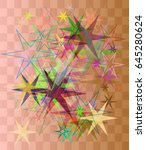 star art pattern | Shutterstock .eps vector #645280624
