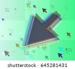 arrows pattern template | Shutterstock .eps vector #645281431