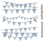 set of hand bunting flag | Shutterstock .eps vector #645282901