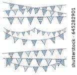 set of hand bunting flag | Shutterstock .eps vector #645282901