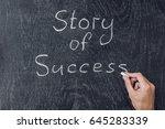 Small photo of Success stories written on the blackboard using chalk.