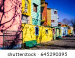 caminito  the colorful street... | Shutterstock . vector #645290395