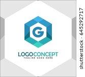 g letter logo icon mosaic... | Shutterstock .eps vector #645292717