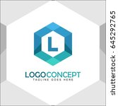 l letter logo icon mosaic... | Shutterstock .eps vector #645292765