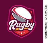 rugby championship logo ... | Shutterstock .eps vector #645293431