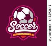 soccer logos  american logo... | Shutterstock .eps vector #645293641